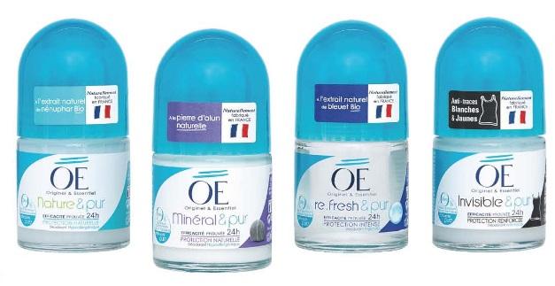 Les nouveaux déodorants OÉ