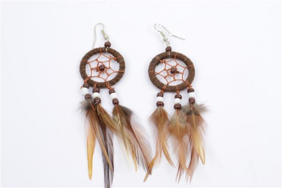 boucles-d-oreilles-attrape-rêves-capteur-de-rêves-avec-plumes