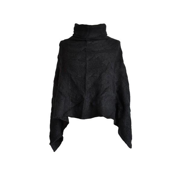 poncho-court-torsades-noir