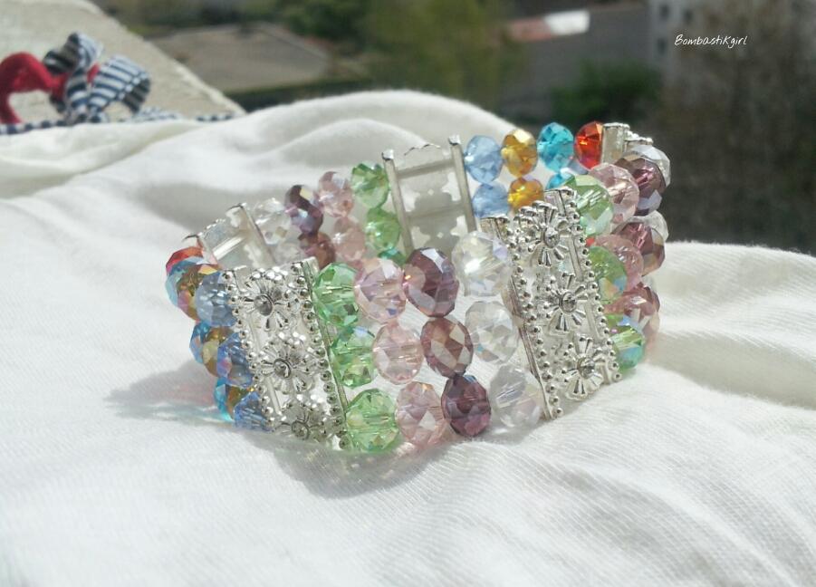 bracelet perles muticolores