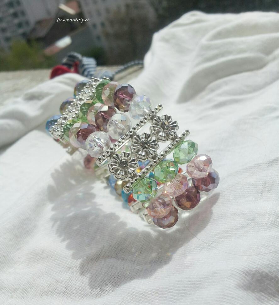 manchette perles