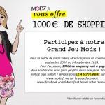 Tenter de gagner 1000 euros de shopping chez Modz