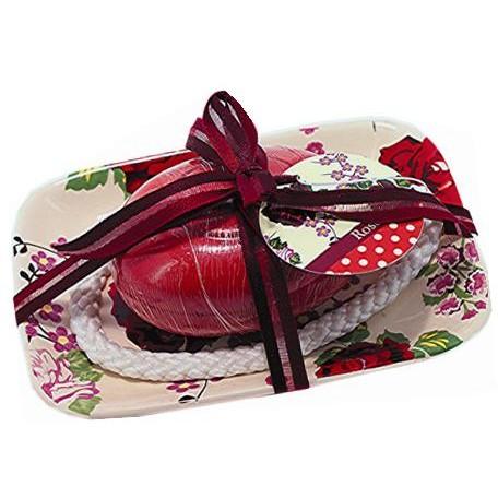 savon-sur-corde-120g-avec-porte-savon-ceramique-red-rose
