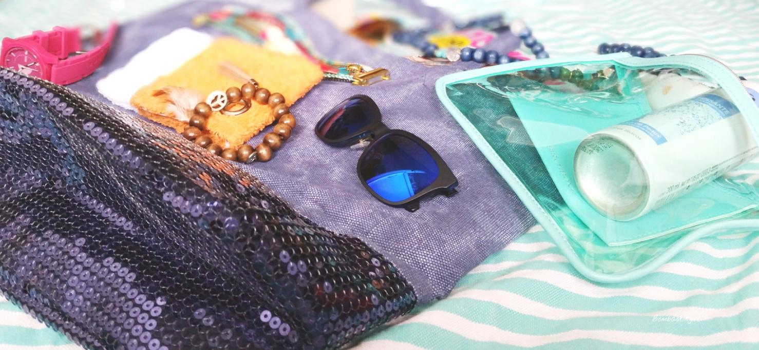 Mes essentiels dans mon sac de plage