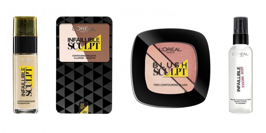 Apprendre à faire un contouring grâce à la nouvelle gamme Infaillible Sculpt de L'Oréal