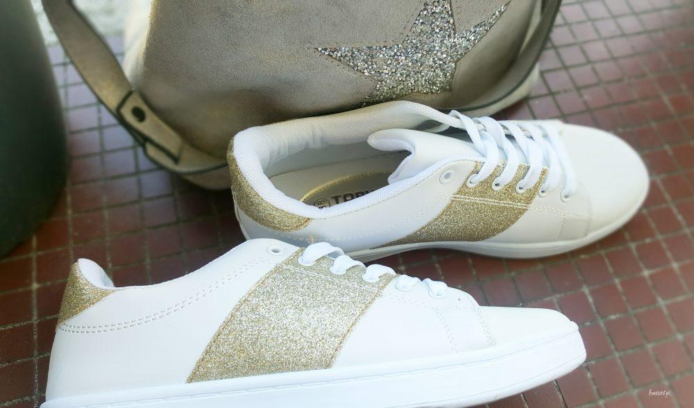 Les baskets blanches et pailletées parfaites Blancheporte
