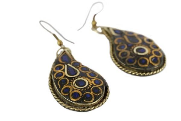 Boucles avec lapis lazuli