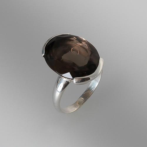 bague-de-quartz-fume-monte-sur-argent-925
