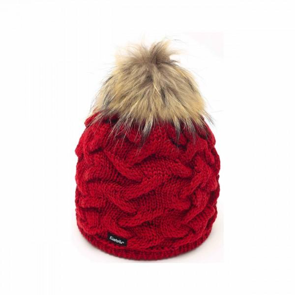 Bonnet pompon rouge