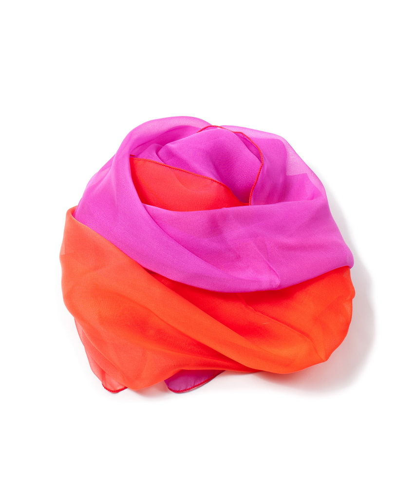 foulard-degrade-orange-et-fushia-en-soie