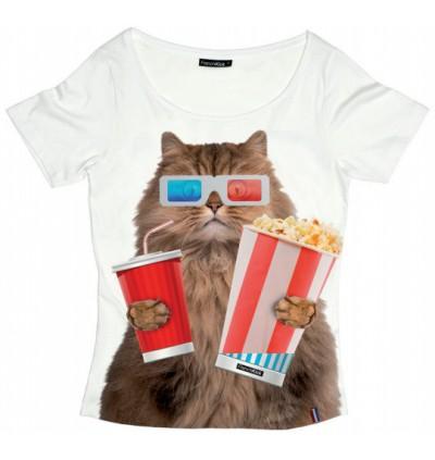 t-shirt-femme-popcorn-cat