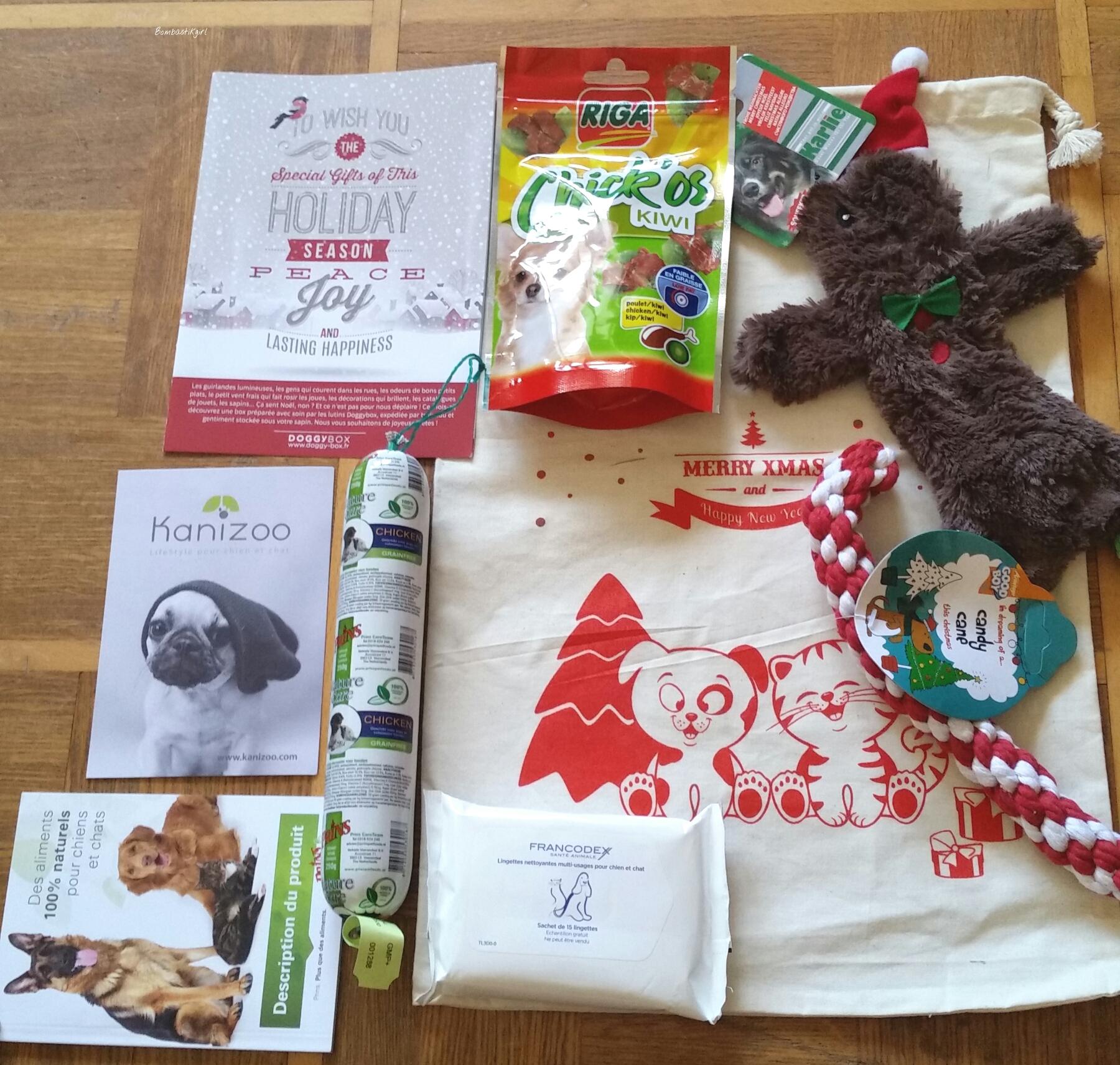 Des cadeaux pour mes toutous, la Doggybox de décembre