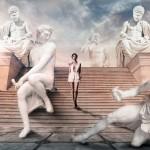 Quelques photos pour rêver avec le dernier parfum féminin de Paco Rabanne : Olympea
