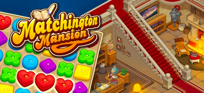 application gratuite jeu mobile Matchington Mansion