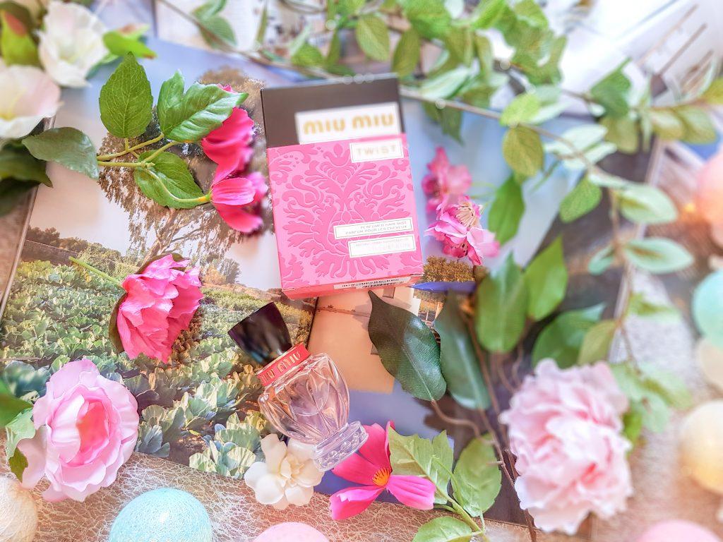 porter du parfum : parfum pour les cheveux Miu Miu Twist