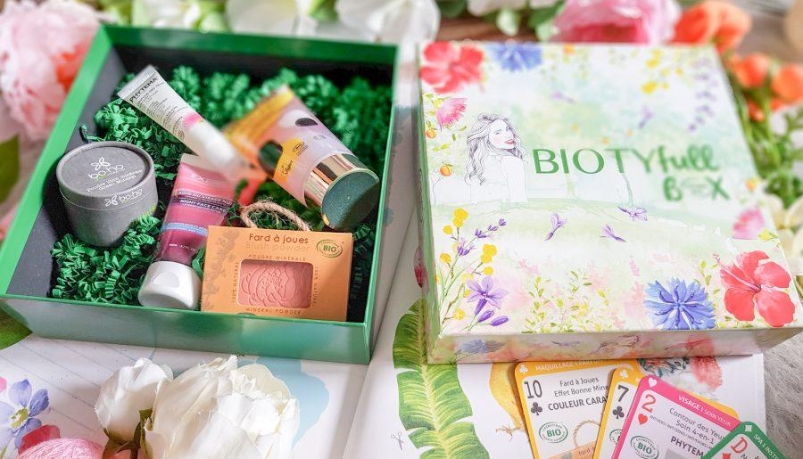 Biotyfull Box avril 2019 100% Cosmebio