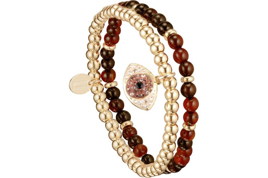 set de bracelets oeil cristal et agate Les Interchangeables Paris