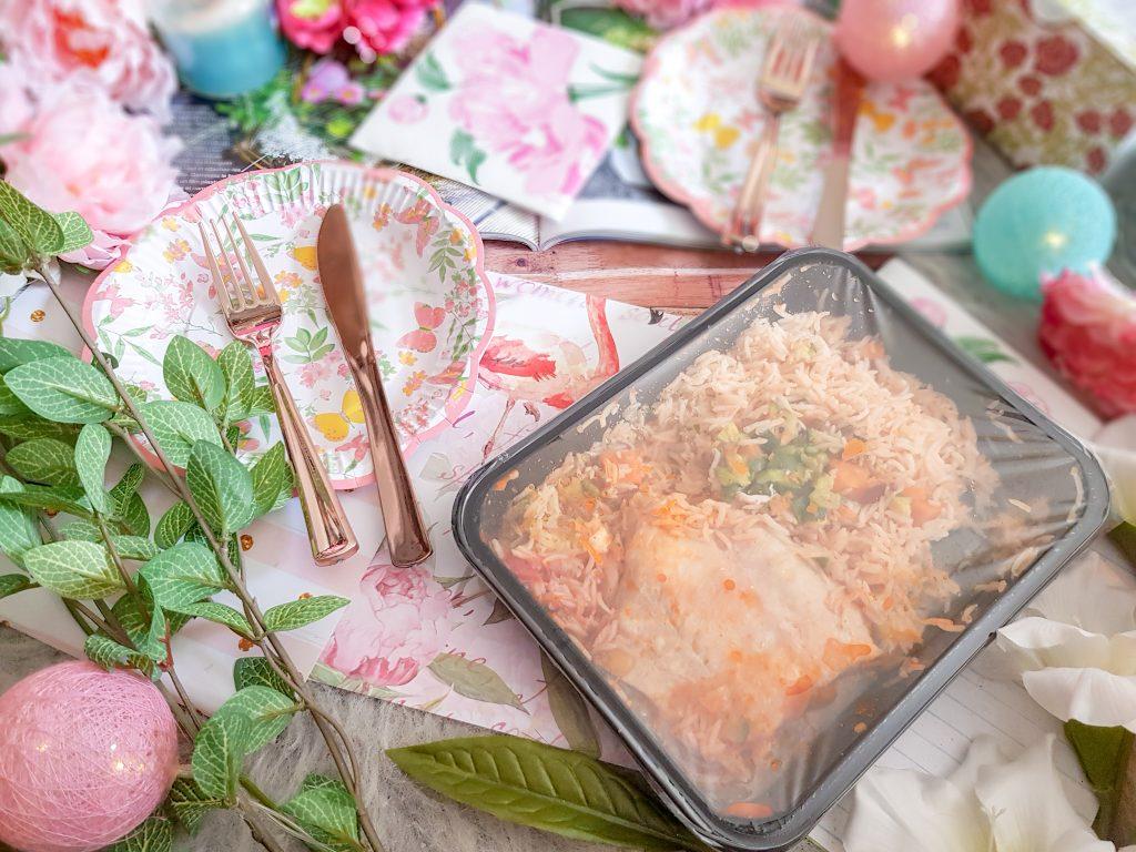 Plat Seazon : Filet de lieu noir, rougail de tomate bio, riz citronné
