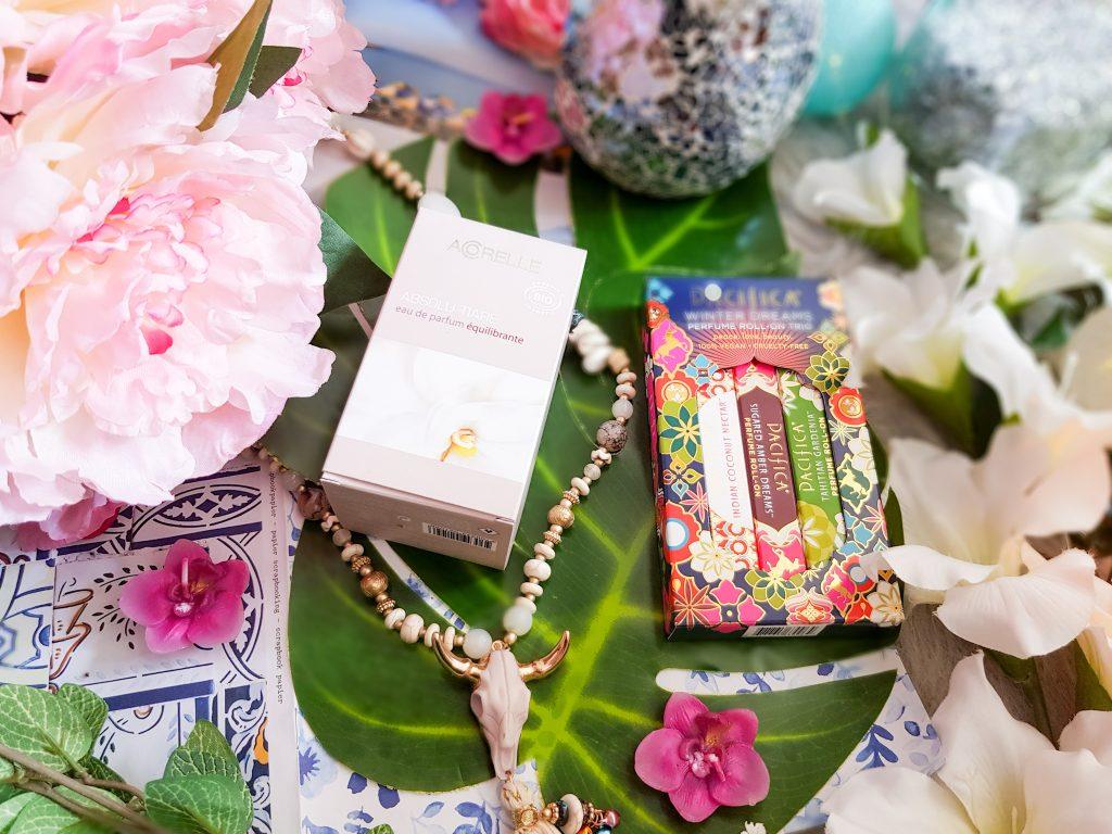 sélection de parfums bio Acorelle et Pacifica