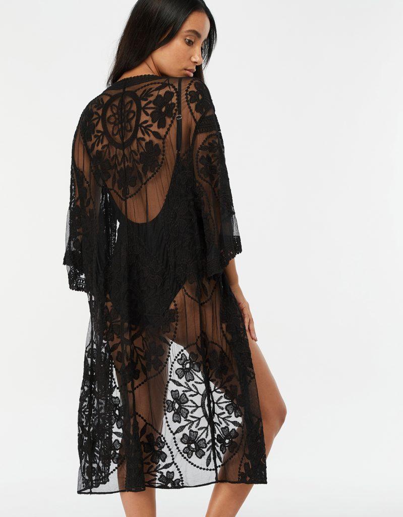 kimono long en dentelle Accessorize