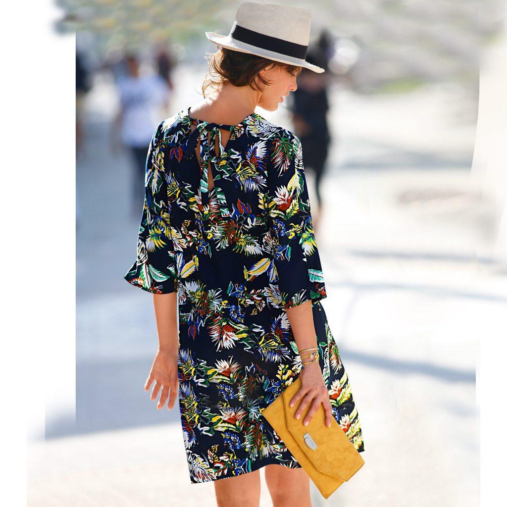 robe décolleté dos fleurie Blancheporte
