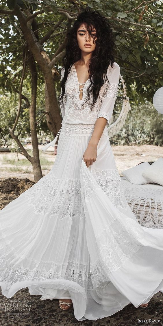 robe de mariage romantique et bohème