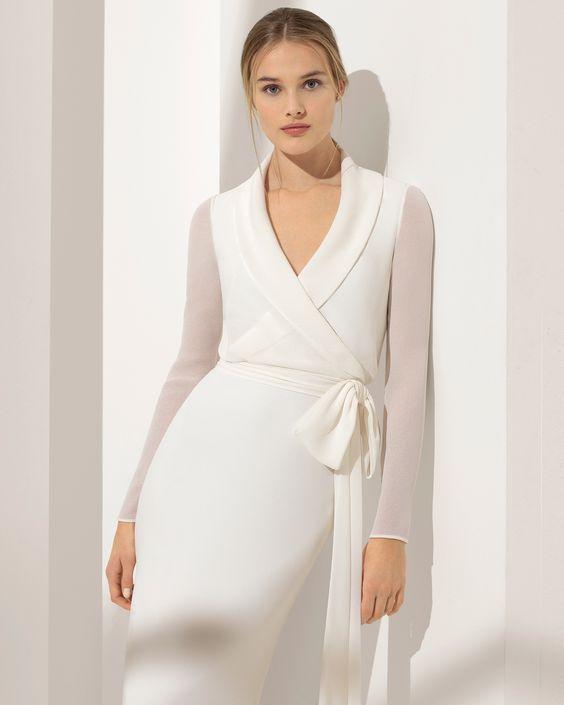 robe de mariée coupe droite