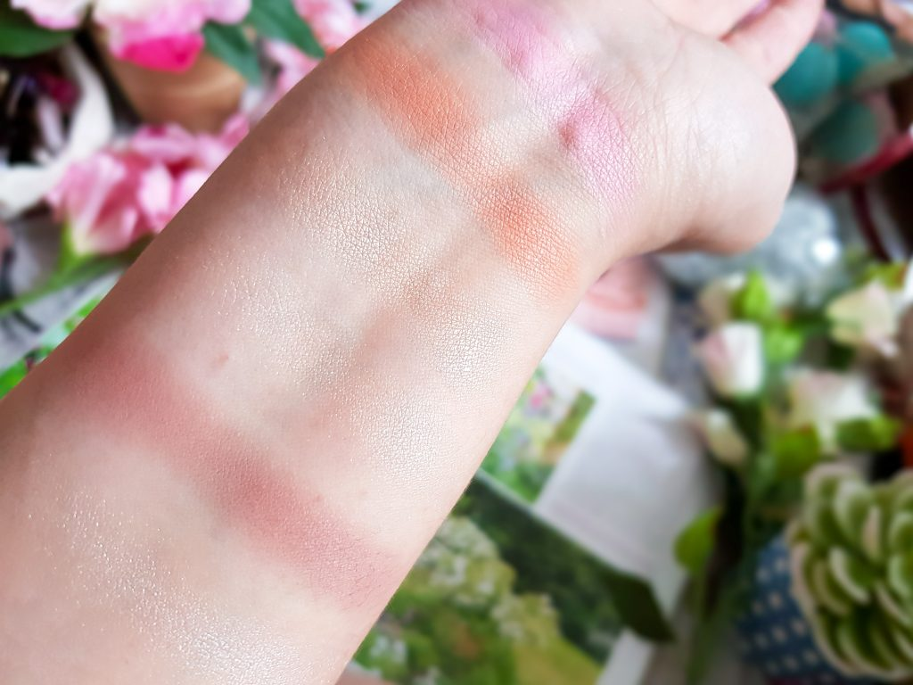 swatches palette yeux et joues SleekMakeUp