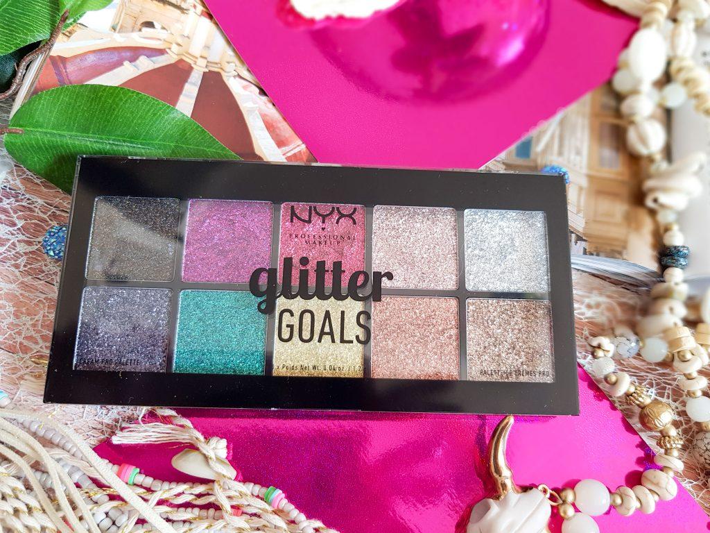 palette fards pailletés Glitter Goals NYX