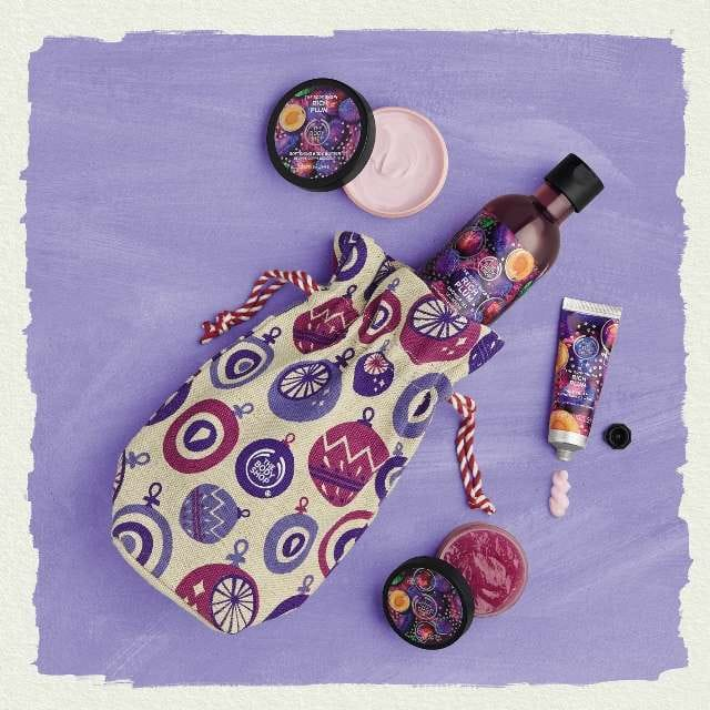 coffret prune sucrée The Body Shop