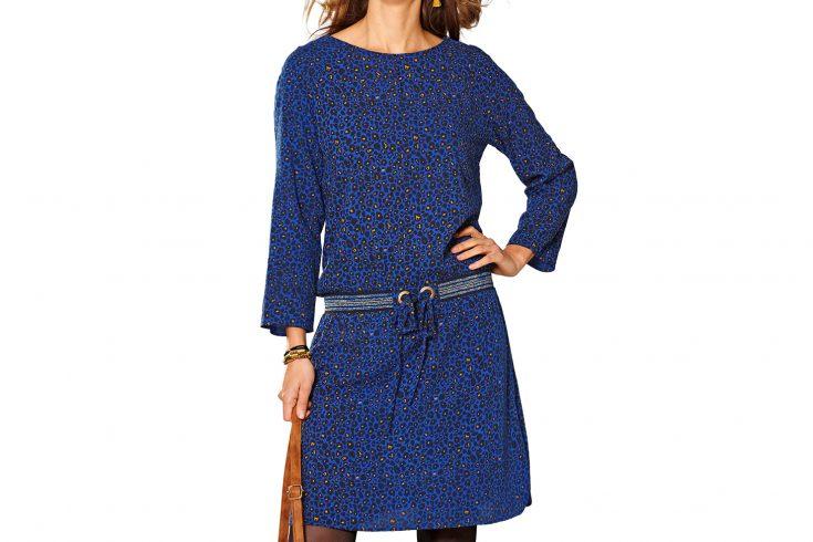 robe imprimé léopard Bleu Bonheur