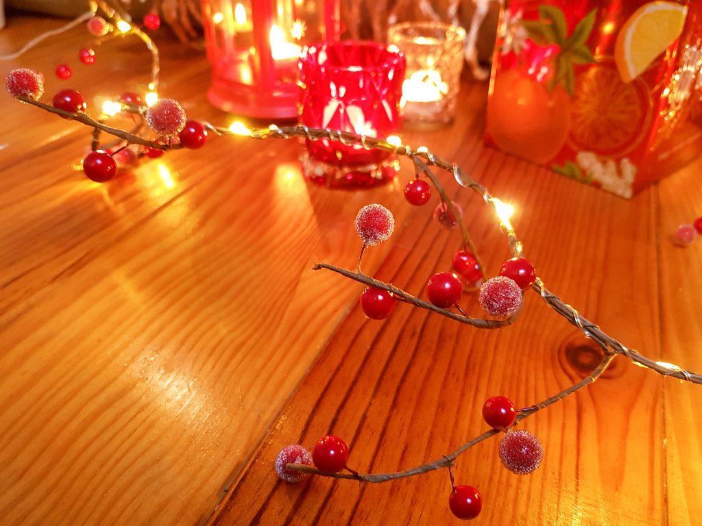 guirlande baies rouges lumineuse Becquet