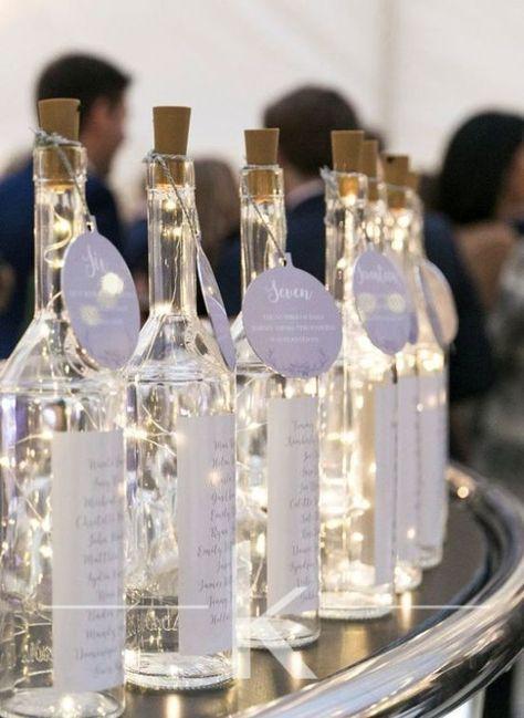 recycler bouteilles de vin pour décoration table mariage