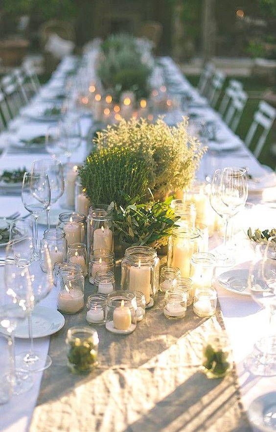 décoration de table de mariage naturelle
