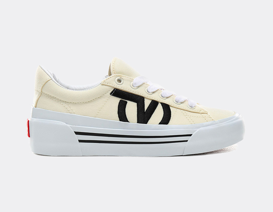 5 sneakers mode pour femme : VANS SID NI STAPLE - CLASSIC WHITE/TRUE WHITE