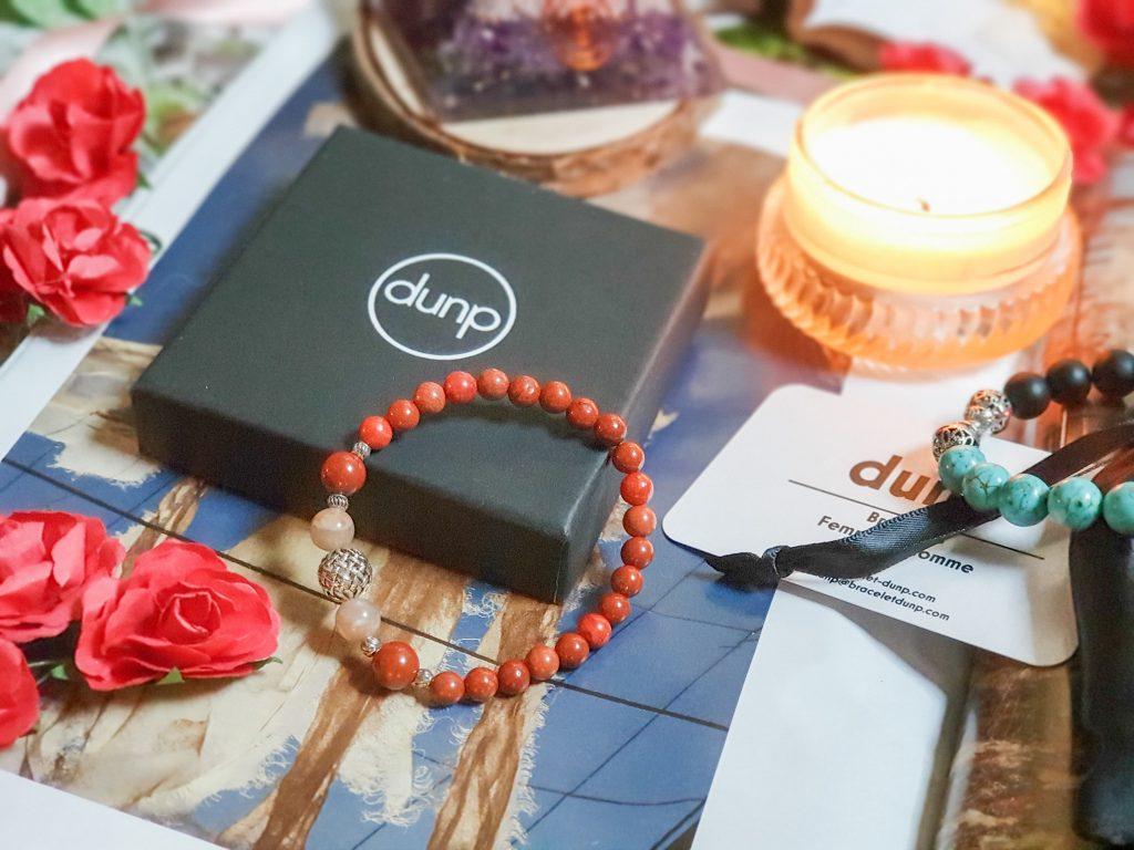 Bracelet jaspe rouge et perle du soleil Dunp