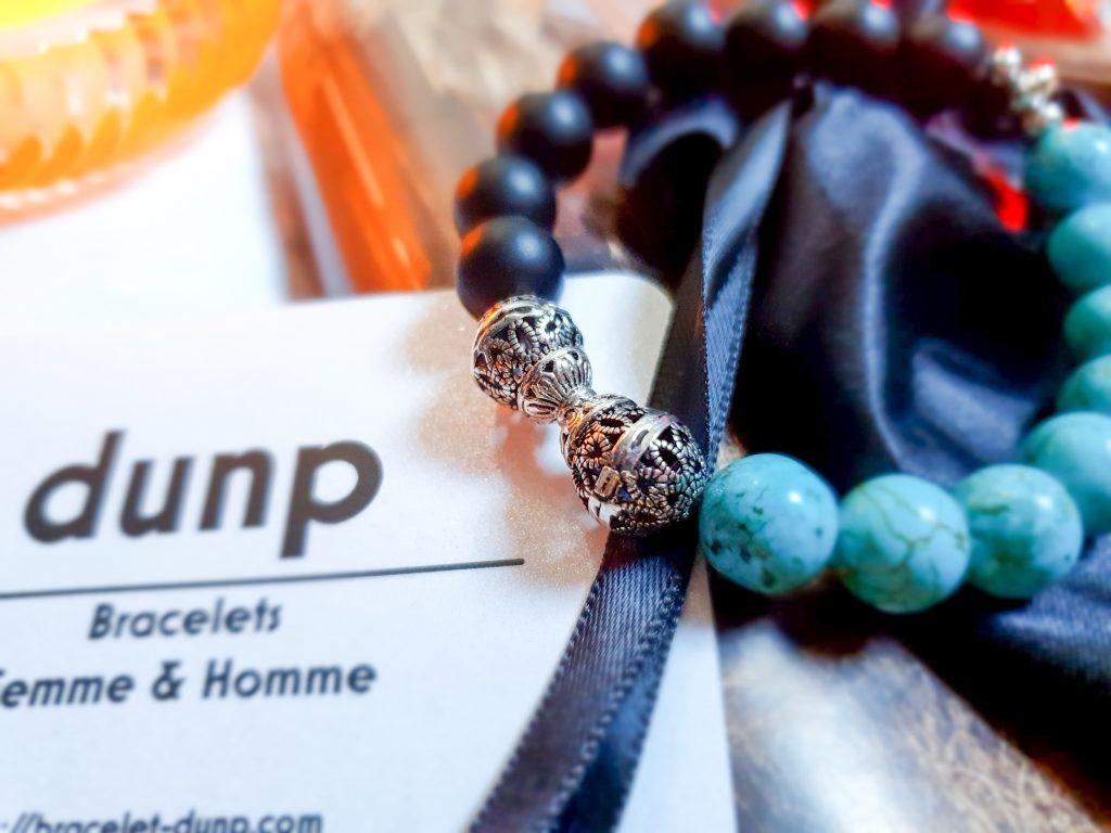 bracelet Onyx et turquoise Dunp