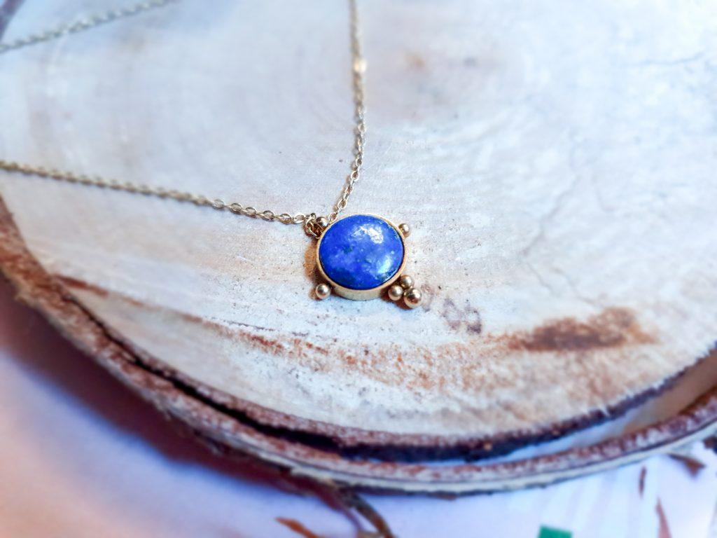 pendentif boule lapis lazuli