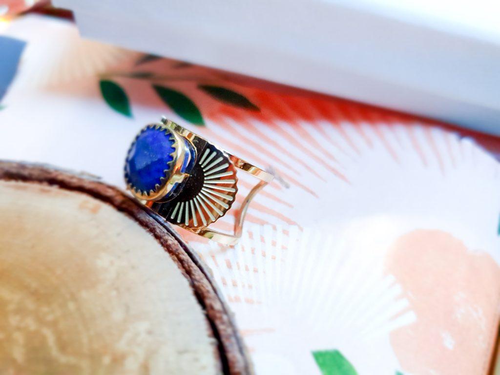 bague anneau cabochon lapis lazuli Zag Bijoux