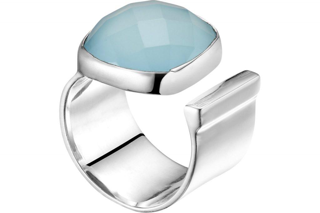 bijoux Clio Blue : anneau intemporel argent