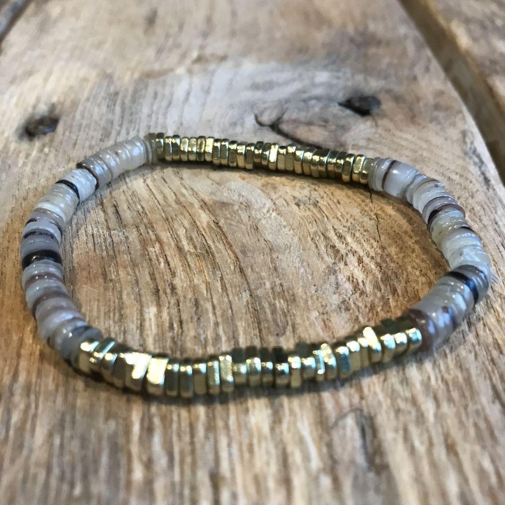 bracelet élastique en coquillage Paulette Quincaillerie
