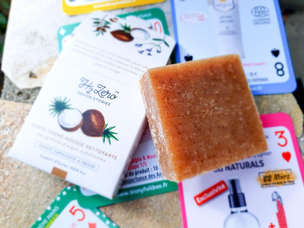 box beauté bio Biotyfull Box mars 2020 : coco-crème mousse nettoyante Savon Stories