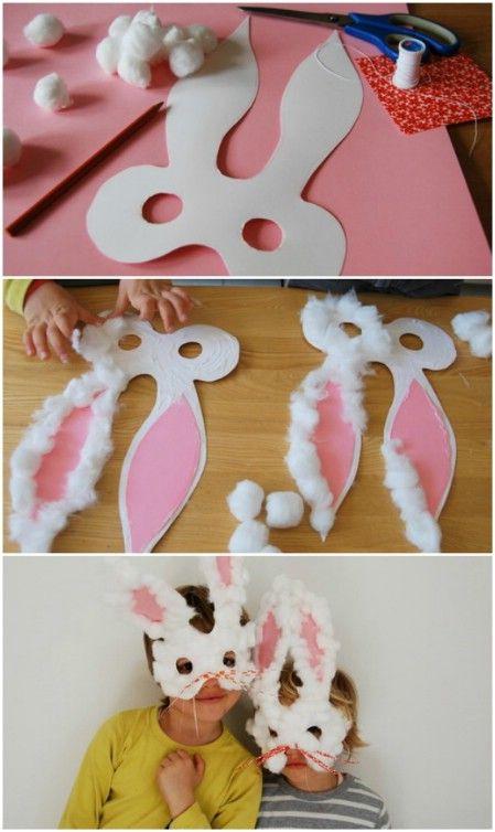 masques lapins de Pâques