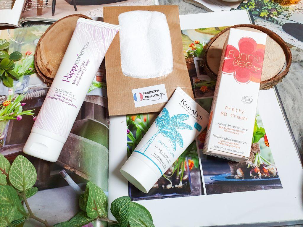 contenu box beauté bio Belle au Naturel mars 2020