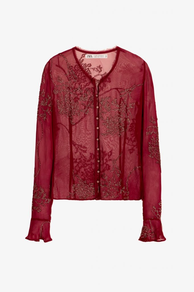 chemise transparente Zara