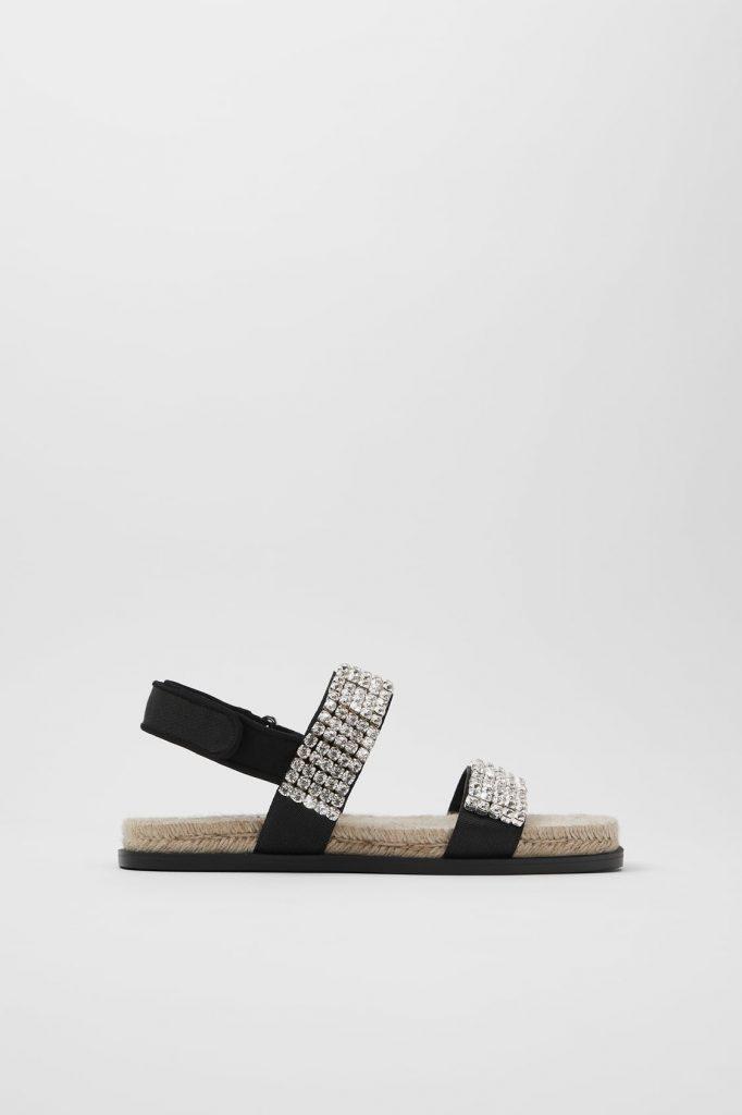 sandales bijou Zara