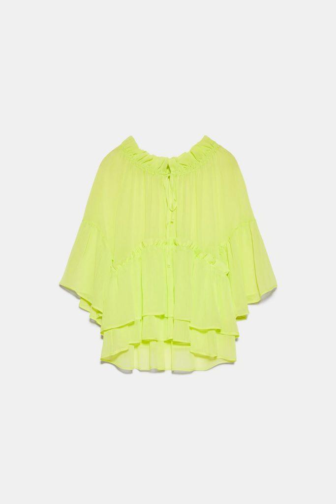 blouse fluo Zara