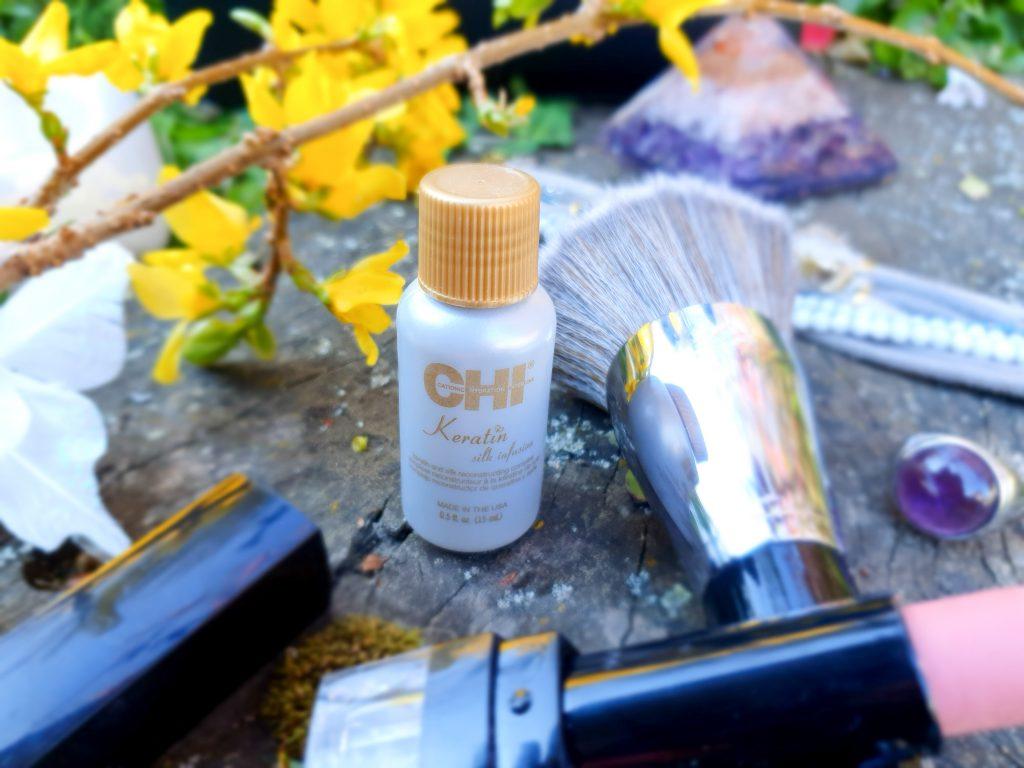 huile cheveux Kératine de soie CHI