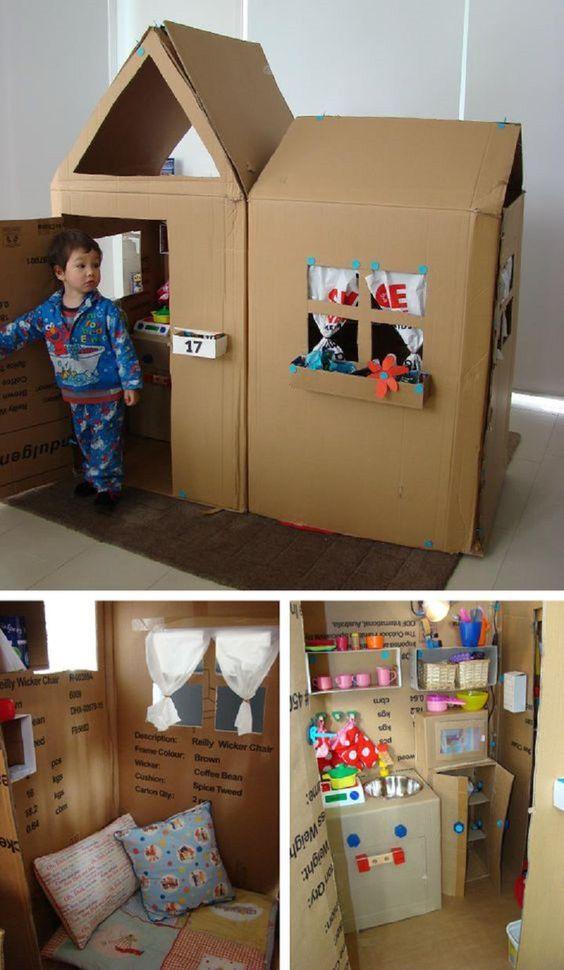 fabriquer une maison en carton pour enfants