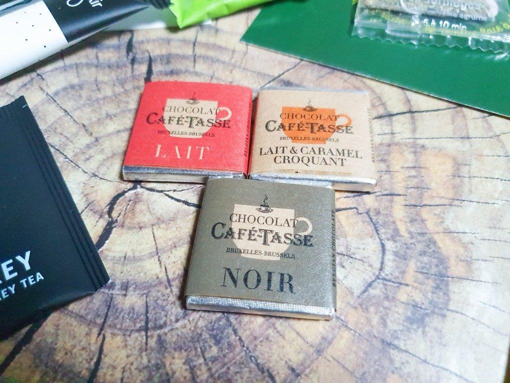 carrés chocolat Café-Tasse